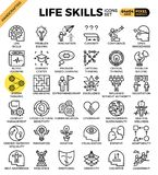 Life skills concept icons. Set in modern line icon style for ui, ux, website, web, app graphic design Stock Image