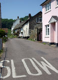 Life in the slow lane. Sleepy Devon village, where life is slow Stock Photos