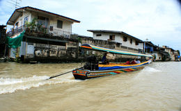 Life in the slums of Bangkok. Thailand, river Stock Images