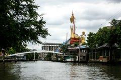 Life in the slums of Bangkok. Thailand, river Royalty Free Stock Photo