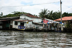Life in the slums of Bangkok. Thailand, river Stock Photos