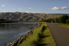 LIFE AT SNAKE RIVER LEWISTON LEVEE Stock Images