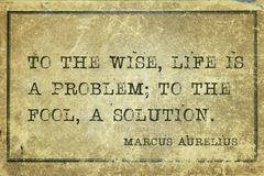 Life solution MAurelius Stock Photo
