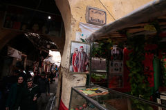 Daily life in the souks of the medina of Fez in Morocco Royalty Free Stock Image