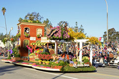 Life Starts Here Rose Bowl Float. Image of the Life Starts Float from the 2015 Rose Parade.  Winner of Best Presentation of Color Harmony Royalty Free Stock Image