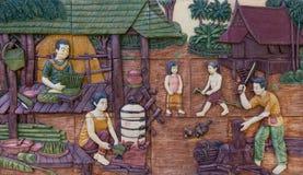 Life stlye of ancestor of thai people Stock Photography