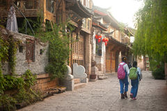 Daily life on street in Lijiang Dayan old town. Stock Photo