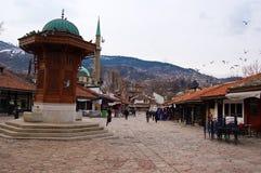 Life on the street of Sarajevo, bosnia Royalty Free Stock Photo