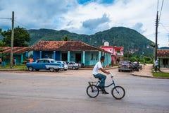 Daily life street scene in Vinales,Cuba. Stock Image