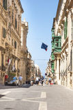Life on the street of Valleta, Malta Royalty Free Stock Images