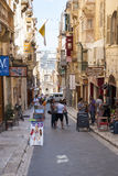 Life on the street of Valleta, Malta Royalty Free Stock Photography