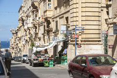 Life on the street of Valleta, Malta Royalty Free Stock Image