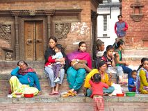 Life style in kathmandu nepal Stock Photography