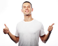 Life style and people concept: casual young man Stock Images