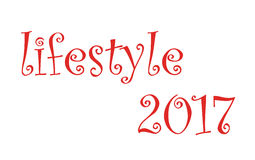 Life style 2017 Red on colorless background.  Stock Photo