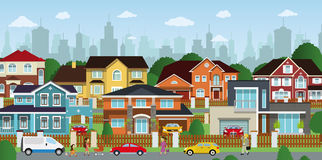 Life in the suburbs Royalty Free Stock Photo