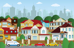 Life in the suburbs Royalty Free Stock Image