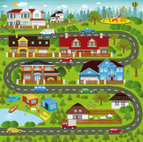 Life in the suburbs Stock Photography