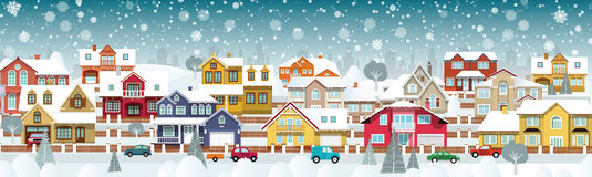 Life in the suburbs (Winter day) royalty free illustration