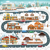 Life in the suburbs - winter Royalty Free Stock Photos