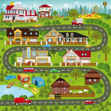 Life in the suburbs - winter Royalty Free Stock Image