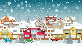 Life in the suburbs (Winter) Stock Photo