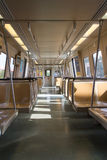 Life on the Subway. View on a morning public transit train Stock Images