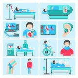 Life support medical equipment icons Stock Image