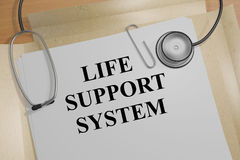 Life Support System - medical concept. 3D illustration of LIFE SUPPORT SYSTEM title on medical document Royalty Free Stock Image