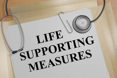 Life Supporting Measures concept Royalty Free Stock Image