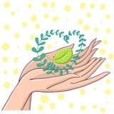 Life symbol. Cute cartoon illustration Stock Photography