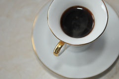 Life tasting. Espresso in a white cup of coffee Royalty Free Stock Image