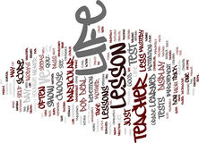 Life The Teacher Text Background Word Cloud Concept royalty free illustration