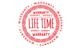 Life time approved icon. Life time approved red icon warranty Royalty Free Stock Images