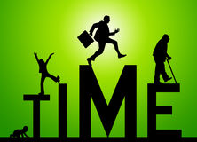 Life time. Evolution of time and stages in life Stock Photos