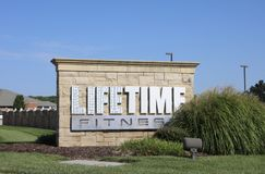 Life Time Fitness and Health Club. Life Time Fitness is West County`s most complete gym, offering countless fitness programs & amenities connecting you to your Stock Image