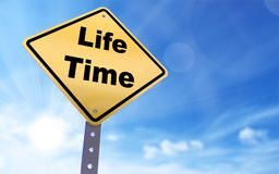 Life time sign vector illustration