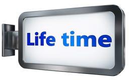 Life time on billboard background. Life time wall light box billboard background , isolated on white royalty free illustration