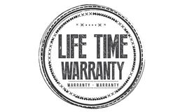 Life time year Warranty icon. Vector black stamp stock illustration