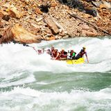 Life to Enjoy River Rafting stock photography