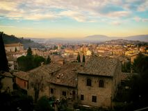 Life in the town of Spoleto Royalty Free Stock Photography
