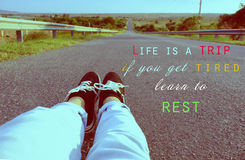 Life is a trip, if you get tired, learn to rest Royalty Free Stock Photos