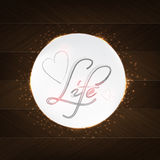 Life Typography Stock Images
