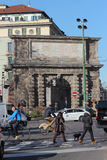 Life under porta Romana, Milan Stock Photos