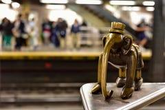 Life Underground - 14th Street Subway Stock Image