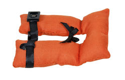 Life Vest. With security belts for nautical safety - path included royalty free stock photo