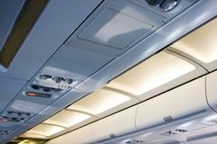 Life vest under your seat 4 Royalty Free Stock Photo