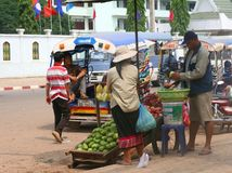Daily business  life in Vientiane in Laos Royalty Free Stock Photos