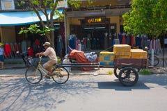 Life of vietnamese vendor in Hoi An Stock Photos