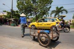 Life of vietnamese vendor in Hoi An Stock Photo